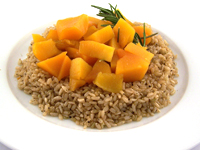butternut squash and brown rice